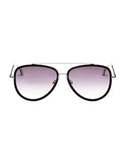 8dac212d3f1 QUICK VIEW. Alice + Olivia. Lincoln Black Aviator Sunglasses
