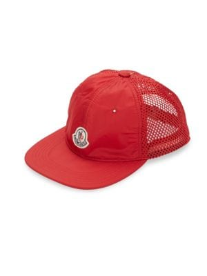 c797610e2f7 Moncler Mesh Woven Hat In Red