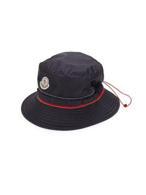 Moncler Drawstring Bucket Hat In Navy  fbebef2767e