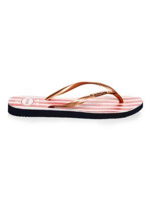 Slim Usa Glitter Flip-Flops, Navy Blue