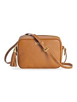 cd61e3be86 Madison Pebble Leather Crossbody Bag SABLE · Product image · Gigi New York