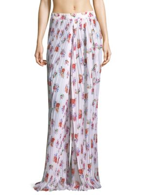 SINESIA KAROL Annie Pleated Pants in Floral