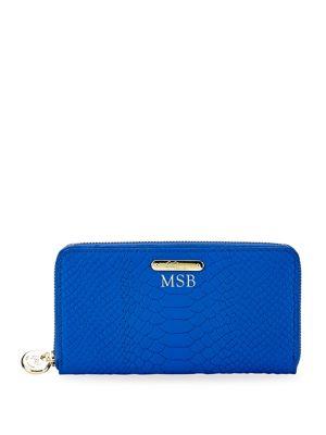 Gigi New York Personalized Zip Around Wallet