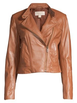 Cropped Leather Jacket by Michael Michael Kors