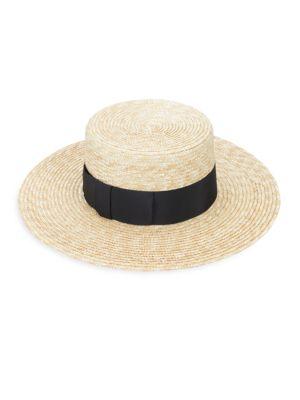 Lola Boater Straw Hat by Lola Hats