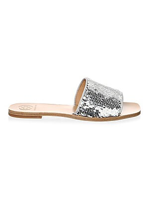 4c32be556 Tory Burch - Ellie Metallic Leather Ankle-Strap Sandals - saks.com
