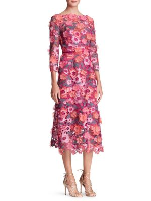 Lace Tea Length Cocktail Dress