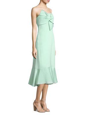 PROSE & POETRY Jodhi Bow Strapless Midi Dress in Mint Green