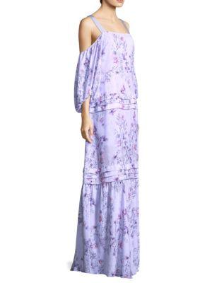 PROSE & POETRY Simone Balloon Sleeve Maxi Dress in Lavender