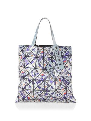 BAO BAO ISSEY MIYAKE Platinum Gem Lightweight Tote Bag in White Multi