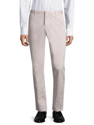 STRELLSON Slim-Fit Chino Pants in Pastel Grey