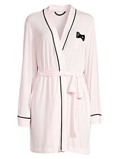 2cce01ece4 Kate Spade New York. Bow-Detail Short Robe