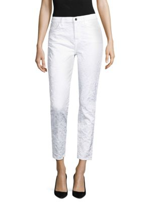 Jen7 By 7 For All Mankind  Floral Jacquard Ankle Skinny Jeans
