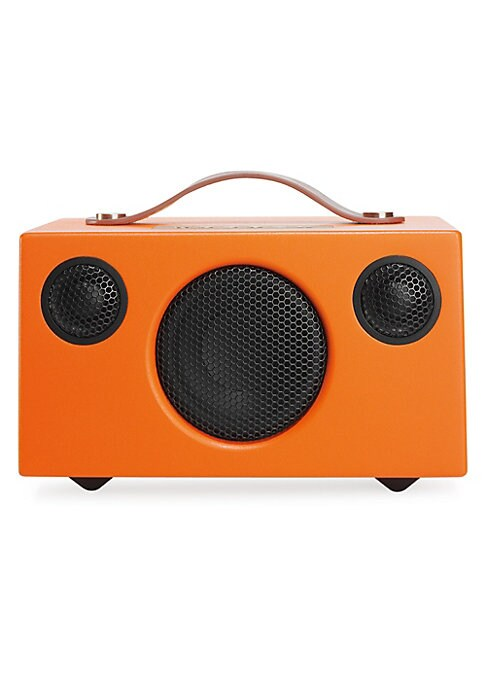 """Image of Turn up the volume with this wireless speaker. It lasts for 30 hours on a full charge, and it produces well-balanced sound with crisp highs and thumping low frequencies. Bluetooth-capable.8.5""""W x 5""""H x 4.5""""D.Imported."""