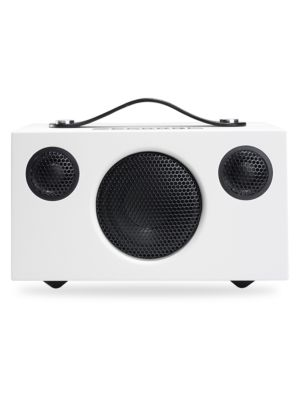 Image of Enjoy your favorite tunes by the pool or in the park with this durable portable speaker. This portable speaker links easily to Bluetooth-enabled devices to provide clear, dynamic sound. Li-ion battery lasts for up to 30 hours. Recharges through any comput