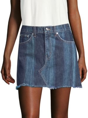 Cleo Mini Skirt Medium Pinto, Medium Wash