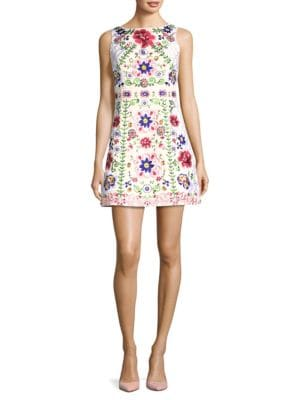 Alice And Olivia  Lindsey Embroidered Mini Dress