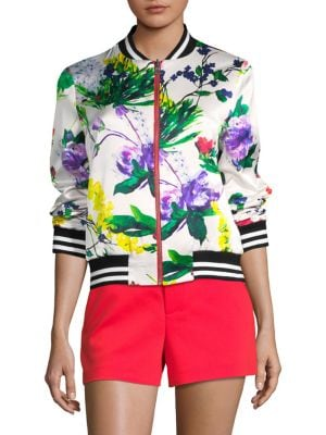Alice And Olivia  Lonnie Reversible Bomber Jacket
