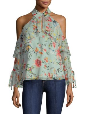 Alice And Olivia  Blayne Floral-Print Blouse