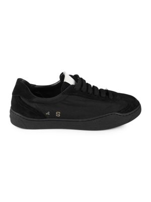 Lhara Low-Top Canvas Trainers in Black