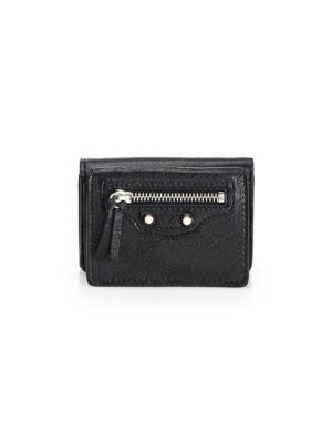 Mini Arena Classic Leather Wallet by Balenciaga