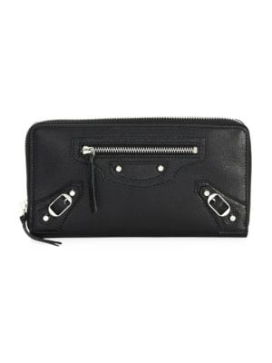 Arena Leather Continental Wallet by Balenciaga