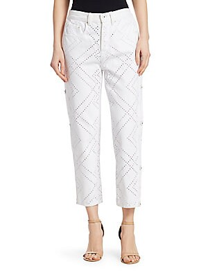 b383fc461ad Jonathan Simkhai - Lace-Up Slit Stovepipe Jeans - saks.com