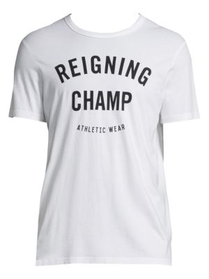REIGNING CHAMP Gym Logo T-Shirt in White