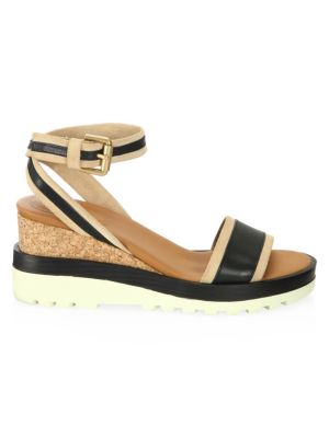 Robin Leather Wedge Sandals by See By Chloé