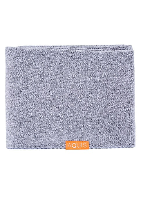 Image of The Lisse Luxe Long Hair Towels are 25% longer than the regular length towel. It is made with AQUITEX, an innovative fabric woven from ultra-fine fibers to create a lightweight material with superior water-wicking capabilities that is gentle on your hair.