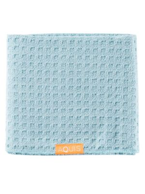 Image of With increased surface areas from the layered fabric, AQUIS Waffle Luxe Hair Towels are designed for thick, coarse, and porous hair. Ideal for shorter to shoulder length hair, our regular length towels are made with AQUITEX, an innovative fabric woven fro