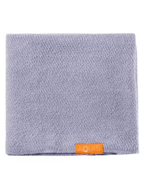 Image of The Lisse Luxe Hair Towels are made with AQUITEX, an innovative fabric woven from ultra-fine fibers to create a lightweight material with superior water wicking capabilities that is gentle on your hair. Designed for short to medium-length, fine, delicate