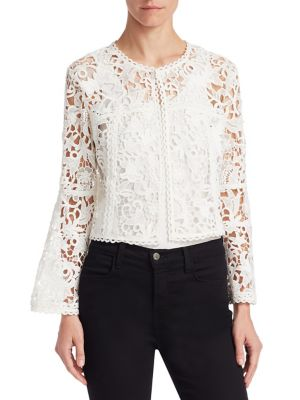 Edward Achour Lace Bolero Jacket