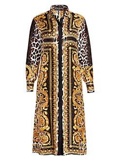 3de835c8 Versace. Silk Twill Belted Dress