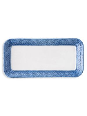 Image of On-trend ceramic tray to carry occasion essentials.1 oz. Ceramic stoneware. Dishwasher, freezer, microwave and oven safe. Imported.