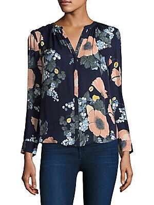 5d08ad8d212a9 Joie - Amarant Bella Floral Silk Blouse - saks.com