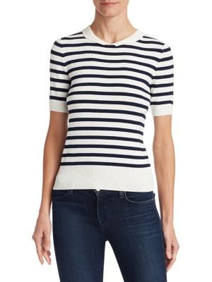 Edward Achour Stripe Knit Top