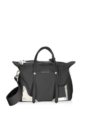 Small Pebbled Leather Crossbody Bag in Black