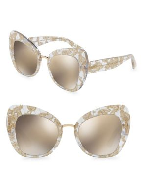 17d5c6a5f5 Dolce   Gabbana 51Mm Butterfly Sunglasses In Gold
