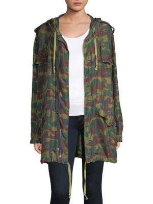Camouflage Parka Jacket, Army Khaki
