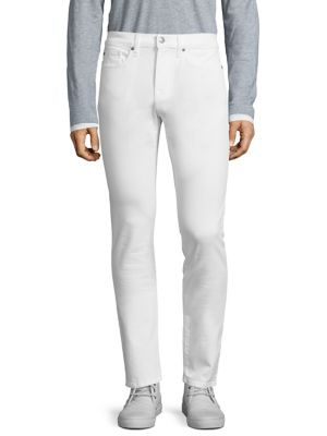 Men'S Brixton Slim-Straight Jeans, White in Off White