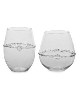 Juliska Graham Carafe Stemless Wine Glass Set