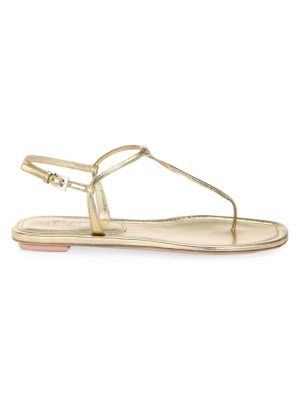Leather Thong Flat Sandals by Prada