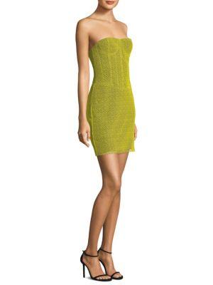 Diane Von Furstenberg Strapless Corset Dress In Yellow