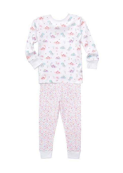 Toddlers  Little Girls Printed Cotton Pajama Set