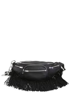 Attica Fringe Lambskin Leather Fanny Pack - Black