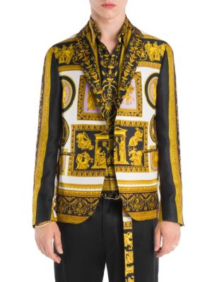 Versace  Archive Frames Printed Silk Blazer