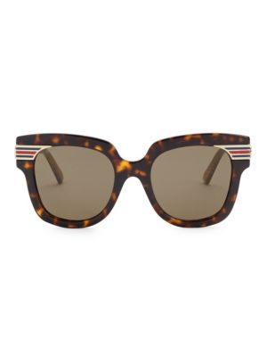 ecba54b43d2 Gucci - 51mm Side Stripe Round Sunglasses - saks.com