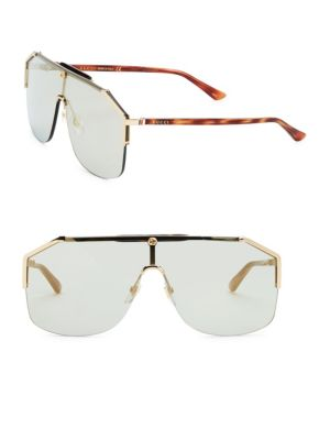 Havana Shield Sunglasses by Gucci