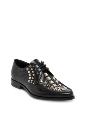 Image of Leather Studded Derby Shoe